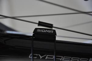 Two-piece spoke magnet set and bike sensor/receiver/mount.