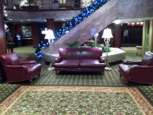 With no flash enabled, this picture of the lobby is slightly blurry.