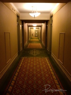 I was expecting to see twin girls at the end of this hallway one late evening as I walked to my room...