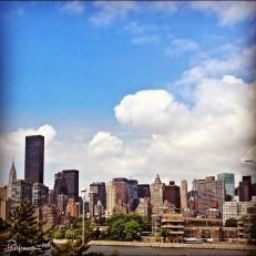 The Manhattan skyline as seen from Queens.