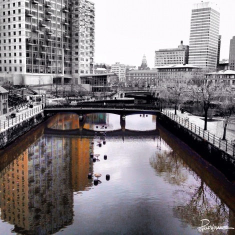 Canal through Providence, Rhode Island