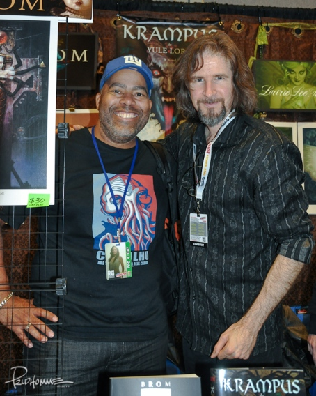 My 4th NY Comic-Con visit! I get to meet none other than artist-turned-author, BROM! Talk about a super nice guy!