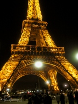 The beautiful Eiffel Tower in all its bright glory. This is one of my favorite pics.