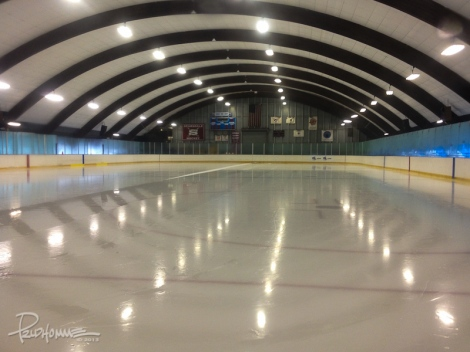 Pristine ice ready to be skated upon...