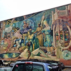Philadelphia has many murals all over the city. This one was in a parking lot.
