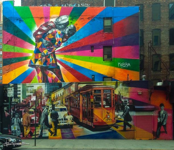 V-J Day in Times Square Mural.