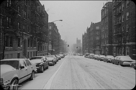 Wadsworth Avenue during the winter months.
