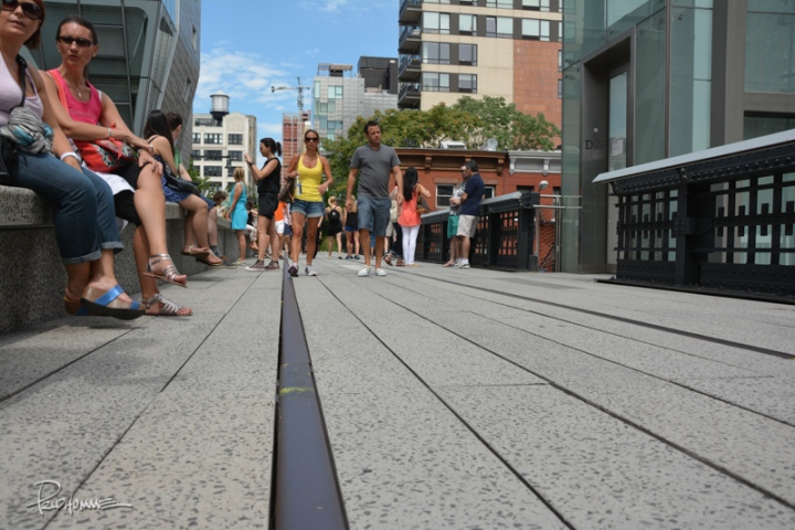 You can see large sections of the High Line still have the original train tracks laid out.