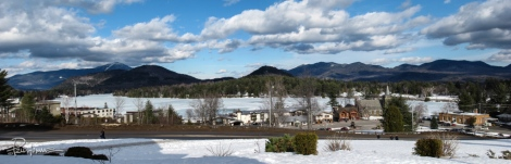 Lake Placid, NY in winter