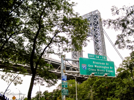 Leaving New Jersey leads you into Manhattan, specifically Washington Heights.