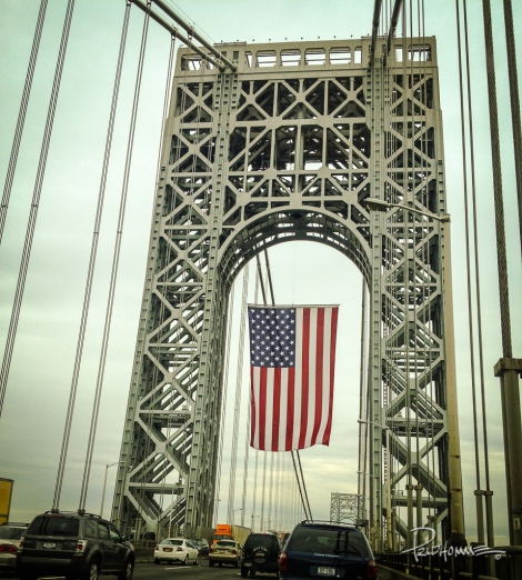 A recent picture of the bridge. This is what welcomes me on my way home.