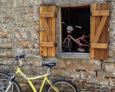 A bike shop in Ile-de-Brehat, Brittany