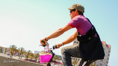 You gotta love his pink basket!