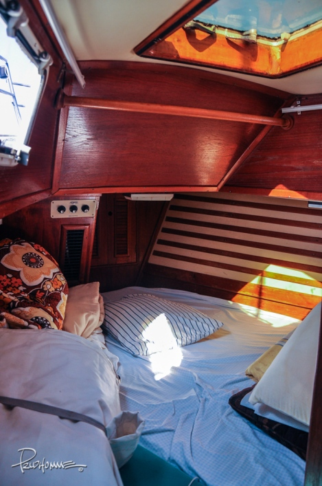 This is the second, smaller bedroom located at the front of the ship.