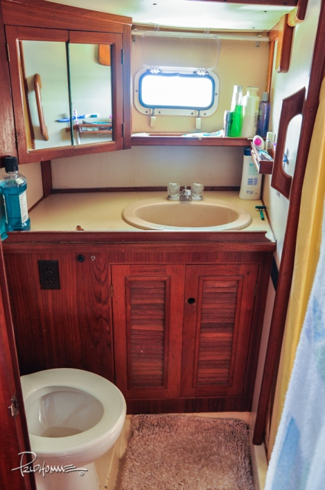 The second of TWO bathrooms. The other is smaller and has a washing machine instead of a shower like this one.