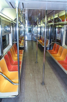 Sometimes I ditch the car and take mass transit. This rarely happens but when it does, it's so sweet: an empty car!