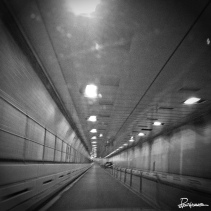 Through the Brooklyn-Battery Tunnel.